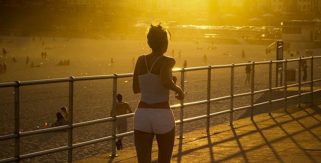 Jogging i solnedgång kanske ger bättre humör?