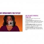 De tre tipsen I Oprahs spel kommer från Jane McGonigals syster, som råkar vara psykologiforskare