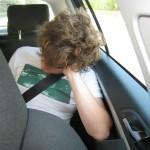 Någon har betingat bilen med sömn