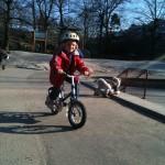 Kan man lära sig att cykla utan att ramla?