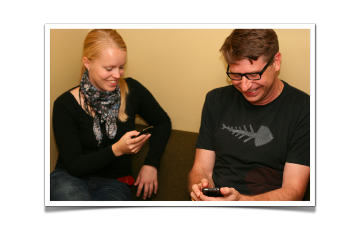 Linda och Per med sin egen app