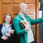 Två trendiga kulturnördar? Jenny Lindh och Mark Levengood. Foto: Sveriges Radio