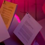 På releasefesten skrev vi ut 101 vetenskapliga artiklar och hängde i taket Foto: Robin Vetter